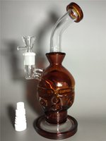 2015 Nouveau Amber Glass Faberge Oeuf tubes d'eau bongs en verre avec birdcage perc 14,5mm avec seau de miel livraison gratuite.