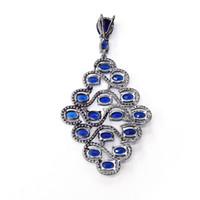 Design Suspension Pendentif en argent sterling CZ diamant Pendentif en forme de bijoux féminine pour la fête APS25620W