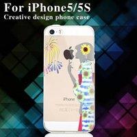 для случая Iphone 5 / 5S / 6/6 + TPU прозрачный защитный слой оболочки цветной рисунок В нижней части Богатые и красочные узоры серии 1 / шт