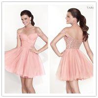 2015 Tarik Ediz Wedding Party Dresses Off The Shoulder Peach...