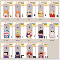 For iPhone 6 6s Plus 5s Cartoon Creative pinched face minion...