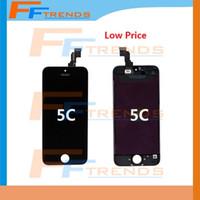 Promotion pour iPhone 5C Affichage LCD Écran tactile Numériseur Full Assembly avec écouteur Anti-Dust Free Ship En Stock