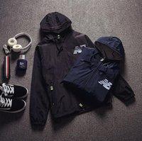 windbreaker jacket men hooded letter print jackets for men s...