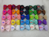"""25colors 4"""" high quality ribbon bow boutique baby girl r..."""