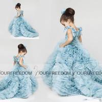 2016 г. Krikor Jabotian маленький цветок девочек платья для новых Свадьбы Дети принцессы Стиль выпускного вечера шарика Pageant Gowns с рюшами Юбка Lon