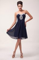 Grace Karin 2016 New Short Strapless Chiffon Ball Cocktail D...
