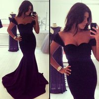 2015 Long Evening Dress with Cap Sleeve Black Sweetheart Mer...