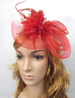 Hot sale Sweet Party Wedding Lace Flower Feather hair access...