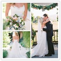 2015 Wedding Dresses Beach Wedding Dress with Sash Sweethear...