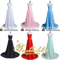 2015 Beautiful Chiffon Bridesmaid Dresses with Crystals Bead...