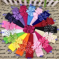 New arrival 5*17cm Stretchy nylon baby headband with 3inch r...