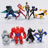 9Pcs lot 6- 10CM Big Hero 6 PVC figures Baymax Fred Tomago Ho...