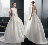 Modest Women Wedding Dress 2015 Ball Gown Bridal Gown Long S...
