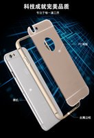 Acrylic Glass Back Cover + Aluminum Metal Arc Bumper Case For...
