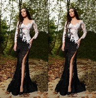 Rami Salamoun Long Sleeves Lace Prom Dresses 2015 V- Neck She...