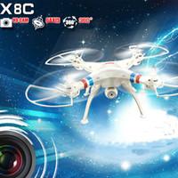 SYMA X8c 2.4G 4CH 6-Axis Gyro RC Quadcopter RTF Drone avec 2.0MP caméra HD Speed mode Headless et 3D Eversion drones DHL RM2733