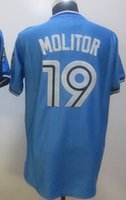 2015 new Blue Jays #19 Molitor Blue White Stitched Jersey, di...