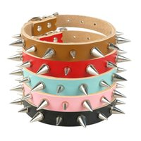 Small Dog Collar Spiked Studded Leather Pet Puppy Collars 5 ...