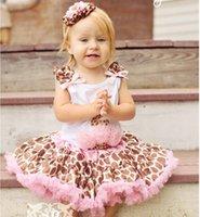 Sample baby girl kids leopard pettiskirt leopard tutu skirt ...