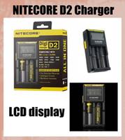 Nitecore D2 Chargeur LCD DigiCharger D2 Universal Chargeur intelligent US UK UA Chargeur batterie UE adapter 26650, 22650, 18650 FJ138