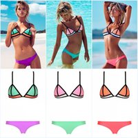 Newest Sexy triangle Bikini Swimwear for Women Patchwork Bik...