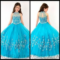 Wholesale Girls Pageant Dresses Turquoise - Buy Cheap Girls ...