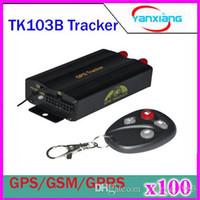 100pcs TK103B Vehicle GPS Tracker TF Card GPS GSM GPRS Real ...