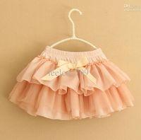 baby girl kids vintage skirt lace skirt chiffon pettiskirt t...