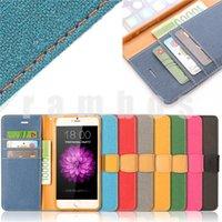 Para el iphone cubierta de la carpeta del teléfono móvil del tirón del cuero de la PU para el iPhone 6/6 plus para iphone 5s / 5c / 5 / 4s / 4