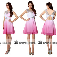 Ombre Fuchsia Homecoming Dresses For 2015 Sweet 16 Teens Gir...