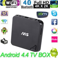 M5 intelligente Amlogic S805 Quad Core di Android 4.4 TV Box 4K 1GB / 8GB XBMC WIFI Airplay Miracast 3D Bluetooth 4.0 Tv Ricevitori Box V922