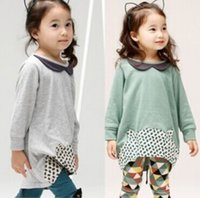 baby girl kids 2pc set outfits long sleeve dress blouse tops...
