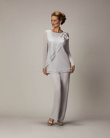 2015 Silver Mother' s Pants Suit For Mother of The Bride...