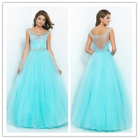 Summer Style Prom Dresses 2015 See Through Ball Gowns with C...