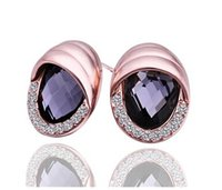 Hot ! 2014 Autumn New fashion gold plated crystal earrings b...