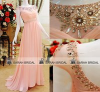 Blush Pink Chiffon Prom Evening Dresses For 2015 Formal Part...
