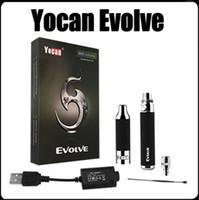 ¡¡En stock!! 100% Original Yocan Evolve E Kit de cigarrillos Quartz doble bobinas de cera Kit de pluma Evolve Vaporizador Vape Pens Kits de cigarrillos electrónicos