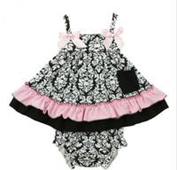 2016 Summer Baby Girls Flower Ruffles Tank Tops + PP Shorts ...