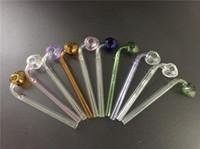 Fraises colorées Fumigène Poignée Tubes Curved Mini Belle 6 pouces de longueur Smoking Pipes Blindé Recycler Best Oil buner