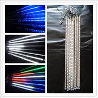 US Stock! Meteor Shower Rain LED Light Tubes Christmas Outdo...