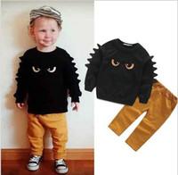 Roupa do bebê 2pc do bebé do inverno do outono Suéter da parte superior + das calças de brim ajustou o terno do equipamento do menino da criança do bebê qualidade do hight shippin livre