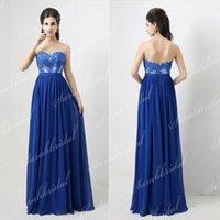 Cheap Under $100 2014 Vestidos Royal Blue Lace Formal Dress ...