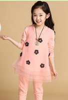 2014 children girls clothes set for spring autumn Baby girls...