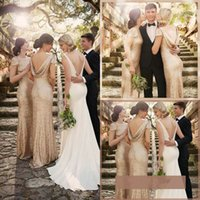 Sorella Vita Sequins Long Bridesmaid Dresses 2016 High Neck ...