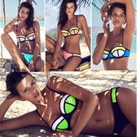 Hot Sexy Womens Triangle Bikini Swimwear Push Up Wireless wi...