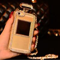 Luxury Perfume Bottle Case with Lanyard Chain Handbag TPU Co...