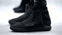 2015 new Mens Yeezy Boost 750 Blackout Outdoors Sneaker, disc...