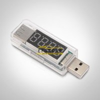 Car USB Voltmeter Current Volt Meter Voltage Tester for Mobi...