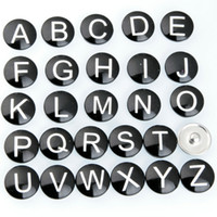 Hot High quality Mix Many styles 12mm 18mm 26 letters Glass ...