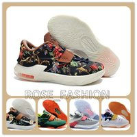 Cheap Kevin Durant Basketball Shoes KD 7 EXT Floral Sports S...